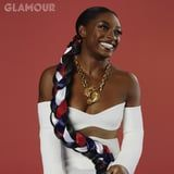 This Picture of Simone Biles's Red, White, and Blue Floor-Length Braid Deserves to be Framed