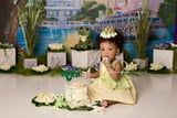 A Baby Dressed Up as Princess Tiana For a Cake Smash, and the Photos Are the Definition of Cute!
