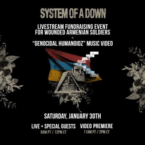 SYSTEM OF A DOWN To Host 'Genocidal Humanoidz' Music Video Premiere And Livestream Fundraising Event