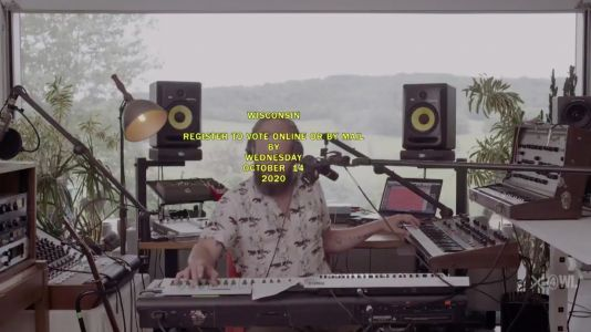 "Watch Justin Vernon Transform Bon Iver's ""22 "" Into A Voting PSA For Colbert"