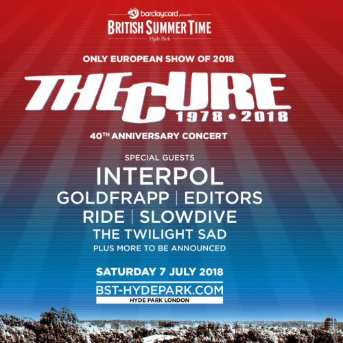 The Cure Announce 40th Anniversary Concert With Interpol, Ride, Slowdive, & More