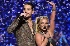 Britney Spears Brings Out G-Eazy to Close iHeartRadio Music Festival Set
