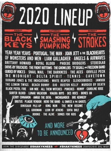 Shaky Knees 2020 lineup: The Strokes, The Black Keys, Smashing Pumpkins to headline