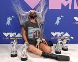 These Photos of Lady Gaga Posing With Her 5 MTV VMAs Trophies Are Too Powerful