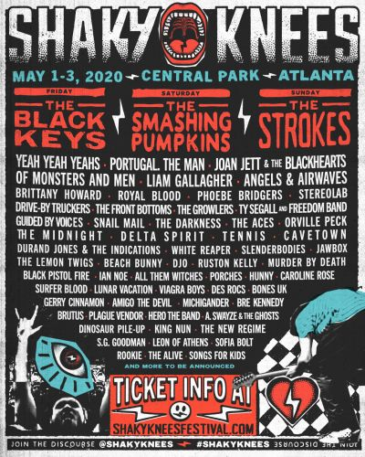 Shaky Knees 2020 Lineup