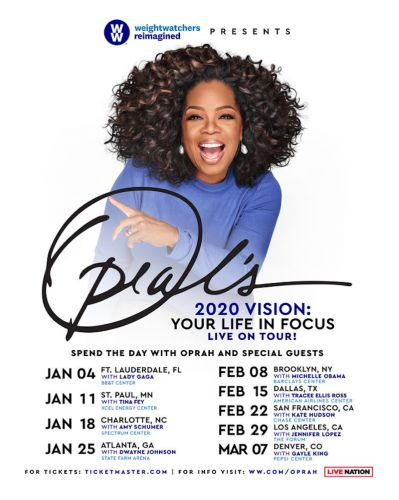 """Oprah's 2020 Vision Tour"" to feature special guests Michelle Obama, Lady Gaga, more"