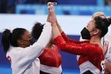 Team USA Battles to Win Olympic Team Silver Medal in Women's Gymnastics, ROC Wins Gold