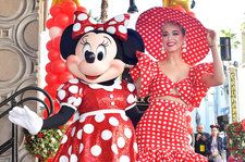 Katy Perry Honors Minnie Mouse With Touching Speech & Polka-Dot Outfit During Hollywood Star Presentation