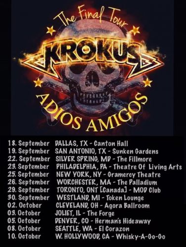 KROKUS Announces 'Final' Concerts In USA And Canada