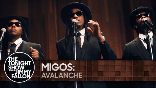 """Watch Migos Dress Up Like Blues Brothers To Debut New Song """"Avalanche"""" On Fallon"""