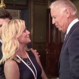 Leslie Knope Meeting Joe Biden on Parks and Rec Is How We're Feeling This Week
