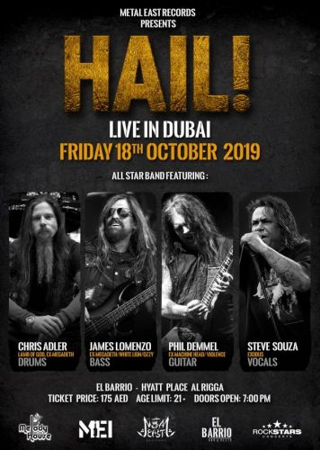 HAIL! Feat. CHRIS ADLER, STEVE 'ZETRO' SOUZA, PHIL DEMMEL, JAMES LOMENZO: Video Of Dubai Concert