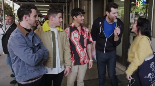 Watch Billy Eichner And The Jonas Brothers Scream At Strangers In NYC