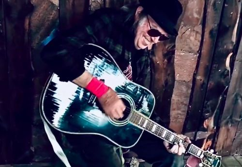 Watch Neil Young Play A Set Of Political Songs & Cover Bob Dylan On His Front Porch