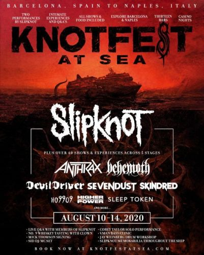 SLIPKNOT To Be Joined By ANTHRAX, BEHEMOTH, DEVILDRIVER, SEVENDUST And More At First-Ever KNOTFEST AT SEA