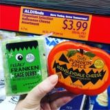 Aldi's Line of Halloween-Themed Cheeses Includes Pumpkin Spice and Frankenstein Sage