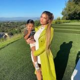 Kylie Jenner's Lime-Green Coat Is Eye-Catching, but How Cute Are Stormi's Sneakers?!
