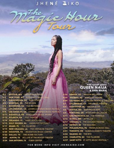 "Jhené Aiko Announces ""The Magic Hour"" Tour Dates"