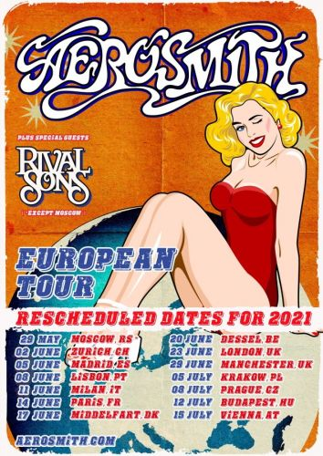 AEROSMITH Reschedules European Tour For Spring/Summer 2021