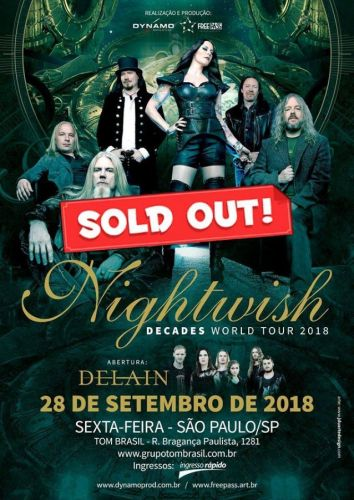 NIGHTWISH: São Paulo And Buenos Aires Concerts To Be Filmed For Upcoming DVD