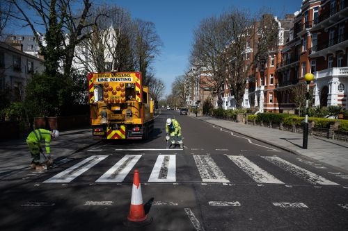 Abbey Road Crossing Gets A New Paint Job Thanks To Everyone Staying Inside