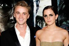 Tom Felton Teaches Emma Watson How to Play Guitar: See the Cute Pic