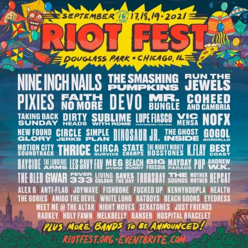 NINE INCH NAILS, FAITH NO MORE And MR. BUNGLE Among Additions To This Year's RIOT FEST