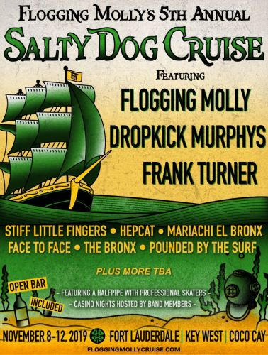 Flogging Molly and Dropkick Murphys lead 2019 Salty Dog Cruise lineup