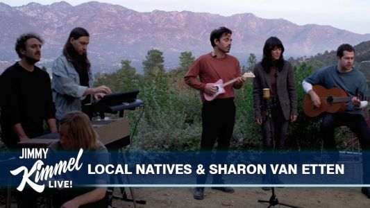 "Watch Local Natives & Sharon Van Etten Sing ""Lemon"" Together On Kimmel"