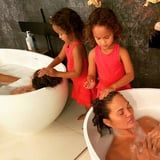 4-Year-Old Luna Refuses to Let Chrissy Teigen Wash Her Own Hair While She's on Bed Rest