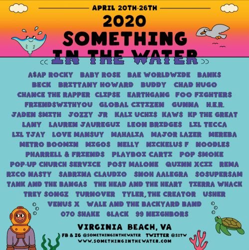 Pharrell Shares Something In The Water 2020 Lineup, Including A Clipse Reunion